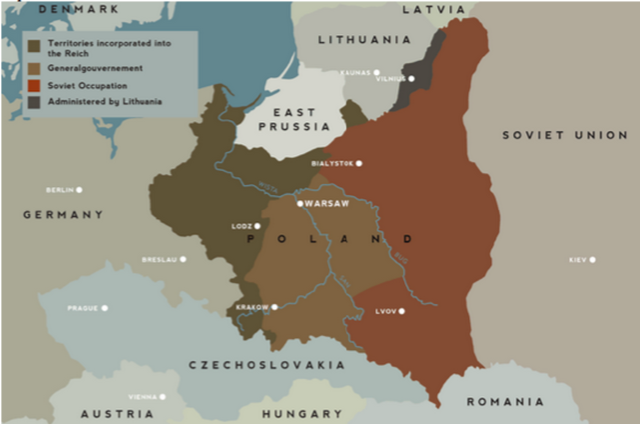 Hitlers lightning war world war ii this map shows the german and soviet territories in poland hitler began gaining this territory when he commenced the battles of world war ii with his gumiabroncs Gallery